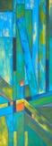 Geometrische Zusammensetzungszusammenfassungsmalerei Stockbild