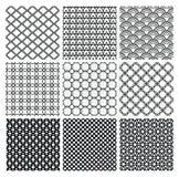 Geometrische Zwart-wit Naadloze Patronen Als achtergrond stock illustratie