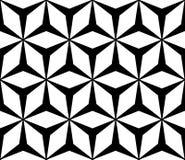 Geometrische zwart-wit textuur, veelhoekig bloemenornament Stock Foto