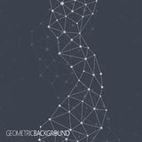 Geometrische zwarte achtergrond Molecule en Communicatie Achtergrond Grafische achtergrond voor uw ontwerp en uw tekst Stock Fotografie