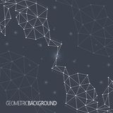 Geometrische zwarte Molecule en mededeling als achtergrond voor uw ontwerp en uw tekst Royalty-vrije Stock Foto