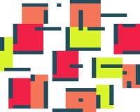 Geometrischer abstrakter Farbhintergrundsatz Quadrate und Linien vektor abbildung