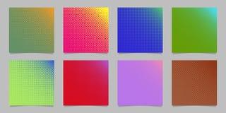 Geometrischer abstrakter Halbtonkreismusterhintergrund stellte - Broschürendesignsammlung mit Punkten in unterschiedlichen Größen Lizenzfreies Stockbild
