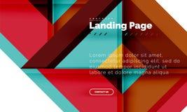 Geometrischer abstrakter Hintergrund der quadratischen Form, Landungsseitenwebdesignschablone lizenzfreie abbildung