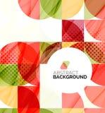 Geometrischer abstrakter Hintergrund des Kreises Lizenzfreies Stockbild