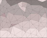 Geometrischer abstrakter Hintergrund, dreieckiges Gitter, blasse lila Dreiecke Stockfotos