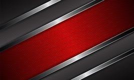 Geometrischer abstrakter Hintergrund mit geplätschertem rotem Rahmen Lizenzfreies Stockbild