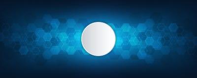 Geometrischer abstrakter Hintergrund mit Hexagonelementen Beschaffenheit des medizinischen Hintergrundes für modernen Entwurf Auc lizenzfreie abbildung