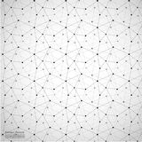 Geometrischer abstrakter Hintergrund mit verbundener Linie und Dots Patterns Lizenzfreie Stockfotos