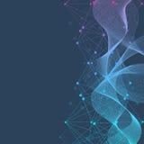 Geometrischer abstrakter Hintergrund mit verbundener Linie und Punkten Wissenschaftliches Konzept für Ihr Design Auch im corel ab Lizenzfreies Stockbild