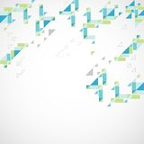 Geometrischer abstrakter Hintergrund Retro- Art stock abbildung