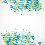 Geometrischer abstrakter Hintergrund Vektor Lizenzfreies Stockbild
