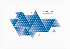 Geometrischer abstrakter Hintergrund von blauen Dreiecken stockfotografie