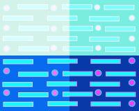 Geometrischer abstrakter Hintergrund, welche aus vier Quadraten von verschiedenen Farben besteht vektor abbildung