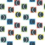 Geometrischer abstrakter nahtloser Musterhintergrund Bunte Formen Lizenzfreies Stockfoto