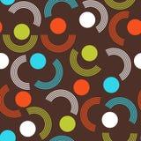 Geometrischer abstrakter nahtloser Musterhintergrund Bunte Formen stock abbildung