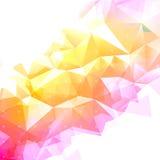 Geometrischer abstrakter niedriger Polyhintergrund Stockfotografie