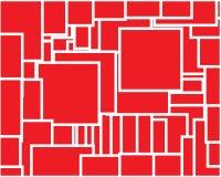 Geometrischer abstrakter roter Hintergrund mit weißem Entwurf vektor abbildung