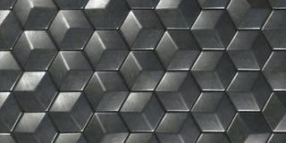 geometrischer abstrakter sechseckiger Hintergrund der Tapeten-3D stockbild