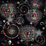 Geometrischer abstrakter vektornahtloses Muster Bunter kopierter g lizenzfreie abbildung
