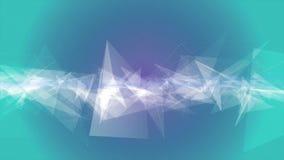 Geometrischer Bewegungshintergrund der abstrakten weißen Schleife der Dreiecke nahtlosen stock video footage