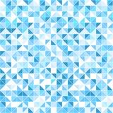 Geometrischer blauer Hintergrund - nahtlos Lizenzfreie Stockfotos