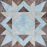Geometrischer Block des Patchworks von den Stücken Geweben, Detail der Steppdecke Lizenzfreie Stockbilder