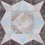 Geometrischer Block des Patchworks von den Stücken Geweben, Detail von quil Lizenzfreies Stockbild