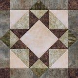 Geometrischer Block des Patchworks von den Stücken Geweben, Detail von quil Lizenzfreie Stockbilder