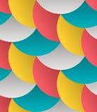 Geometrischer Blumenblatt-Gitter-Zusammenfassungs-Vektor-nahtloses Muster stock abbildung