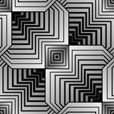 Geometrischer Blumenblatt-Vektor-nahtloses Muster Stockfoto