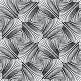 Geometrischer Blumenblatt-Vektor-nahtloses Muster Stockbilder