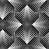 Geometrischer Blumenblatt-Vektor-nahtloses Muster Lizenzfreies Stockbild