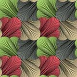 Geometrischer Blumenblatt-Vektor-nahtloses Muster Lizenzfreie Stockbilder