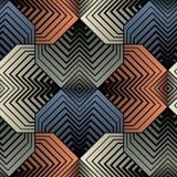 Geometrischer Blumenblatt-Vektor-nahtloses Muster Stockbild
