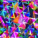 Geometrischer bunter Dreieckhintergrund, Illustration vektor abbildung