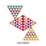 Geometrischer bunter Dreieckrahmen, Digitalbildpyramidenzeichen lizenzfreie abbildung