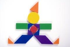Geometrischer Clown Stockfoto