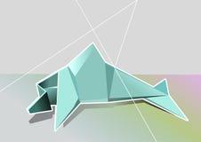 Geometrischer Delphin Lizenzfreie Stockfotografie