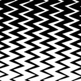 Geometrischer einfacher Zickzack-Druck, Wellen-Muster stock abbildung