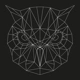 Geometrischer Eulenkopf Lizenzfreie Stockfotos