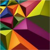 Geometrischer Farbhintergrund Lizenzfreie Stockfotos