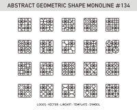 Geometrischer Form-Satz Stockfoto