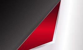 Geometrischer geplätscherter Hintergrund mit den weißen und roten Rahmen Lizenzfreie Stockbilder