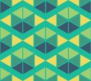 Geometrischer grüner gelber blauer Farbmusterhintergrund stock abbildung