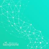 Geometrischer grüner Hintergrund Molekül und Lizenzfreie Stockfotografie