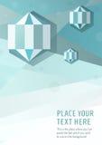 Geometrischer grafischer Arthintergrund des blauen Vektors mit Hexagondiamanten Lizenzfreie Stockbilder