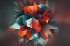 Geometrischer Hintergrund der abstrakten Farbe Lizenzfreies Stockbild