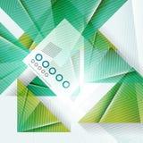 Geometrischer Hintergrund der blauen abstrakten Dreieckform Lizenzfreie Stockfotografie