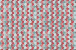 Geometrischer Hintergrund in der Hippie-Art Lizenzfreies Stockfoto
